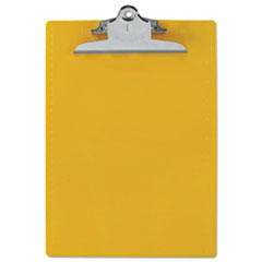 Saunders 21605: Recycled Plastic Clipboard with ruler Edge, 1 Clip Cap, 8 1/2 x 12 Sheets, Yellow