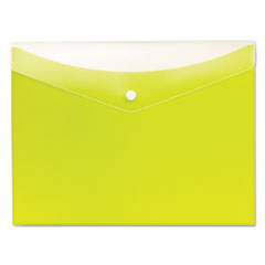 Globe-Weis 95566: Poly Snap Envelope, Snap Closure, 8.5 X 11, Limeade