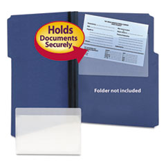 Smead 68185: Self-Adhesive Poly Pockets, Top Load, 9 x 5-9/16, Clear, 100 / box