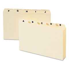 Smead 57076: Self-Tab Card Guides, Alpha, 1/5 Tab, Manila, 8 x 5, 25 / set