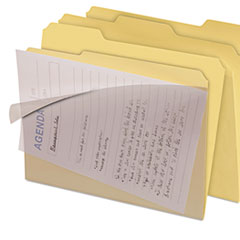 IdeaStream FT07186: Clear View Interior File Folders, 1/3-Cut Tabs, Letter Size, Manila, 8 / Pack