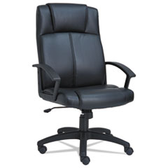 Alera CL4119: Alera Cl Series High-Back Leather Chair, Black