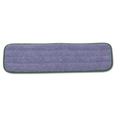 Rubbermaid Q410GRECT: Microfiber Wet Mopping Pad, 18 1/2 x 5 1/2 x 1/2, Green, 12 / carton