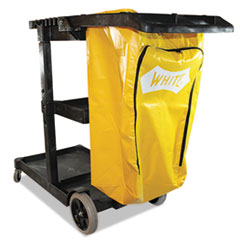 Impact 6850: Janitorial Cart, Three-Shelves, 20.5W X 48D X 38H, Yellow