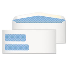 Quality Park 24552: Double-Window Security Envelopes Security 9 Gummed Flap 250 / Box White