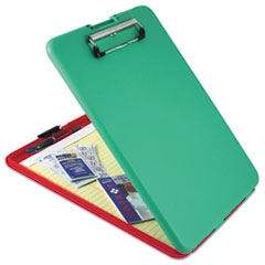 Saunders 00580: Slimmate Show2know Safety Organizer, 1/2 Clip Cap, 9 x 11 3/4 Sheets, Red / green