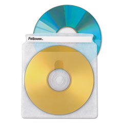 Fellowes 90659: Double-Sided CD / DVD Sleeves 50 pack Sleeve Plastic Clear 2 CD / DVD