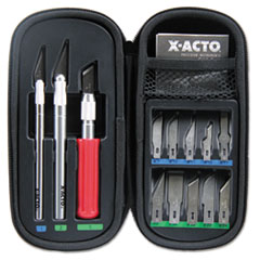 X-Acto X5285: Knife Set, 3 Knives, 10 Blades, Carrying Case