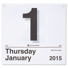At A Glance K450: Today Is Daily Wall Calendar Refill, 8 1/2 X 8, White, 2019