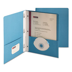 Smead 88052: 2-Pocket Folder with tang Fastener, Letter, 1/2 Cap, Blue, 25 / box