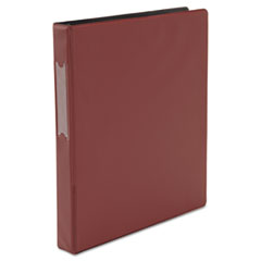 Universal 20767: DELUXE NON-VIEW D-RING BINDER with LABEL HOLDER, 3 RINGS, 1 CAPACITY, 11 x 8.5, BURGUNDY