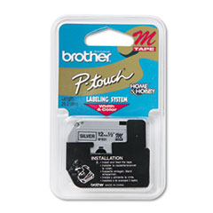 Brother P-Touch M931: M SERIES TAPE CARTRIDGE for P-TOUCH LABELERS, 0.47 x 26.2 FT, BLACK ON SILVER