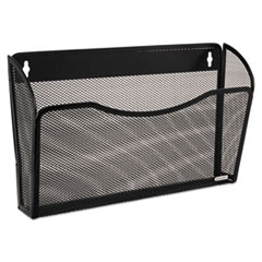 Rolodex 21931: Single Pocket Wire Mesh Wall File, Letter, Black