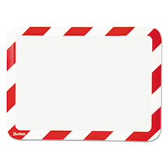Tarifold P194943: High Visibility Safety Frame Display Pocket-Magnet Back, 10 1/4 x 14 1/2, Red / wh