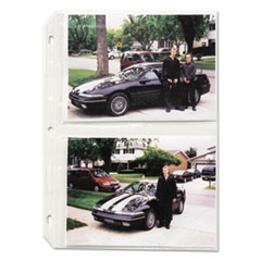 C-Line 52572: Clear Photo Pages for Four 5 x 7 Photos, 3-Hole Punched, 11-1/4 x 8-1/8