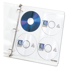 C-Line 61948: Deluxe Cd Ring Binder Storage Pages, Standard, Stores 8 Cds, 5 / Pack