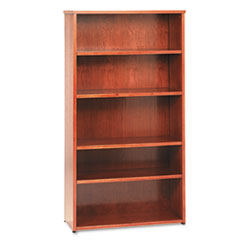Basyx BW2193HH: Bw Wood Veneer Series Five-Shelf Bookcase, 36w x 13d x 66h, Bourbon Cherry