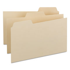Smead 57030: Self-Tab Card Guides, Blank, 1/3 Tab, Manila, 8 x 5, 100 / box