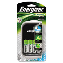 Energizer CH15MNCP4: NiMH Rechargeable Battery Charger 110 V AC, 12 V DC Input