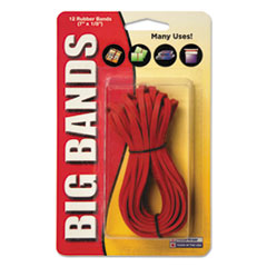 Alliance 00700: Big Bands Rubber Bands, 7 x 1/8, Red, 12 / pack