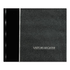 National Brand 57802: Visitor Register Book, Black Hardcover, 128 Pages, 8 1/2 x 9 7/8
