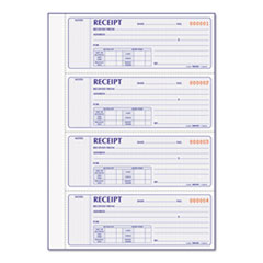 Rediform 8L816: Receipt Book, 7 x 2 3/4, Carbonless Duplicate, 400 Sets / book