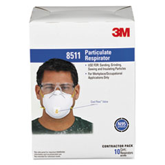3M 8511: Particulate Respirator with cool Flow Exhalation Valve, 10 Masks / box