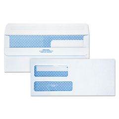 Quality Park 24519: 2-Window Redi-Seal Security-Tinted Envelope, 9, 3 7/8 x 8 7/8, White, 250 / ct