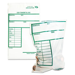Quality Park 45220: Cash Transmittal Bags with printed Info Block, 6 x 9, Clear, 100 Bags / pack