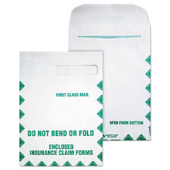 Quality Park 54692: Redi-Seal Insurance Claim Form Envelope, Cheese Blade Flap, Redi-Seal Closure, 9 X 12.5, White, 100 / Box