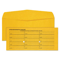 Quality Park 63262: Light Brown Fold Flap Kraft Trade Size Interoffice Envelope, One-Sided Box-Style Format, 4.5 X 10.38, Brown Kraft, 500 / Box