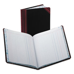 Boorum & Pease 38150J: Record / account Book, Journal Rule, Black / red, 150 Pages, 9 5/8 x 7 5/8