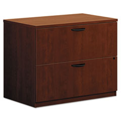 Basyx BL2171A1A1: Lateral File, 2 Drawers 35.5 x 22 x 29 2 Square Edge Finish Laminate, Medium Cherry