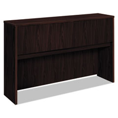 Basyx BL2183NN: BL Stack-on Hutch 60 x 14.6 x 37.1 x 1 Drawer s 4 Door s Square Edge Material Wood Door Finish Laminate, Mahogany