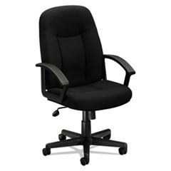 Basyx VL601VA10: Hvl601 Series Executive High-Back Chair, Supports Up To 250 Lbs., Black Seat / Black Back, Black Base