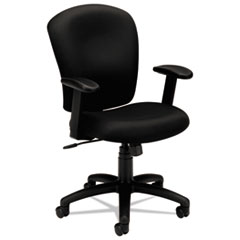 Basyx VL220VA10: Hvl220 Mid-Back Task Chair, Supports Up To 250 Lbs., Black Seat / Black Back, Black Base