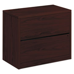 HON 10563NN: 10500 Series Two-Drawer Lateral File, 36W X 20D X 29.5H, Mahogany