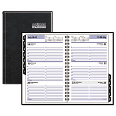 DayMinder G210H00: DayMinder Desk Weekly Appointment Book Yes Weekly 1 Year January till December 8 00 AM to 5 00 PM 1 Week Double Page Layout 4 7/8 x 8 Black Pocket, Tabbed, Tabbed