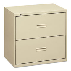 Basyx 432LL: 400 Series Two-Drawer Lateral File, 30W X 18D X 28H, Putty