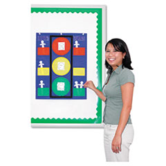 Carson-Dellosa 158024: Colorful Pocket Stoplight Chart 6 Pocket s 26 Height x 19.8 Width Green, Yellow, Red 1Each