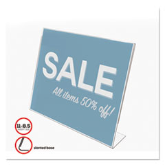 Deflect-o 66701: Classic Image Slanted Sign Holder, Landscaped, 11 X 8 1/2 Insert, Clear