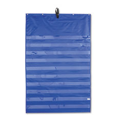 Carson-Dellosa 158158: Essential Pocket Chart, Ten Clear One Storage Pocket, Grommets, Blue, 31 X 42