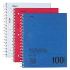 Mead 06546: Durapress Cover Notebook, College Rule, 11 x 8 1/2, White, 100 Sheets