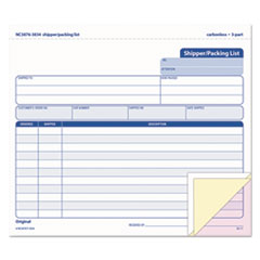 TOPS Products 3834: Snap-Off Shipper / packing List, 8 1/2 x 7, Three-Part Carbonless, 50 Forms