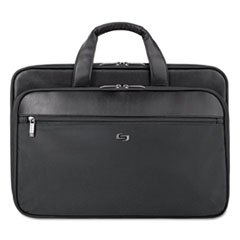 US Luggage SGB3004: Classic Smart Strap Briefcase, 16, 17 1/2 x 5 1/2 x 12, Black