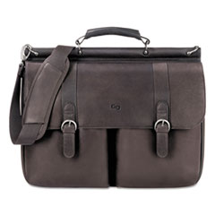 US Luggage D5353: Executive Leather Briefcase, 16, 16 1/2 x 5 x 13, Espresso