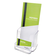 Deflect-o 78601: Deflect-o Countertop Leaflet Holder with Business Card Holder 2 Compartment s 7.8 Height x 4.4 Width x 4.1 Depth Desktop Clear Plastic 1Each