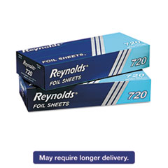 Reynolds Wrap 720: Pop-Up Interfolded Aluminum Foil Sheets, 12 x 10 3/4, Silver, 200 / box