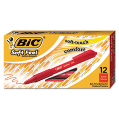 BIC SCSM11RD: Soft Feel Retractable Ballpoint Pen, Medium 1Mm, Red Ink / Barrel, Dozen