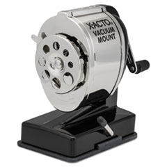 X-Acto 1072: Ks Manual Classroom Pencil Sharpener, Vacuum-Base, Manual, 4 X 5.5 X 5.5, Black / Nickel